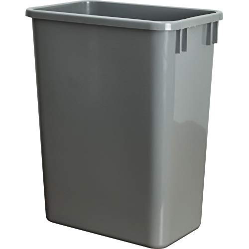 (Hardware Resources CAN-35GRY Plastic Waste Container, Gray)