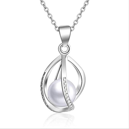 ACCTSY Lovely Lantern Shaped Pendants Necklace for Women Wedding Fashion 925 Sterling Silver Necklace Jewelry for Girl Birthday