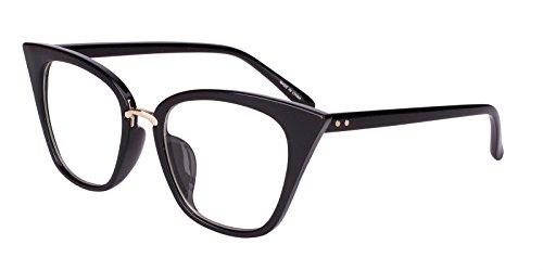Beison Womens Cat Eye Mod Fashion Eyeglasses Frame Clear Lens (Eyeglasses Women Cat Frame)