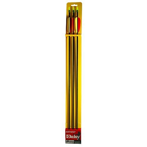 Daisy Youth Target Fiberglass Arrows (Pack of 3), 26-Inch, nero by Daisy