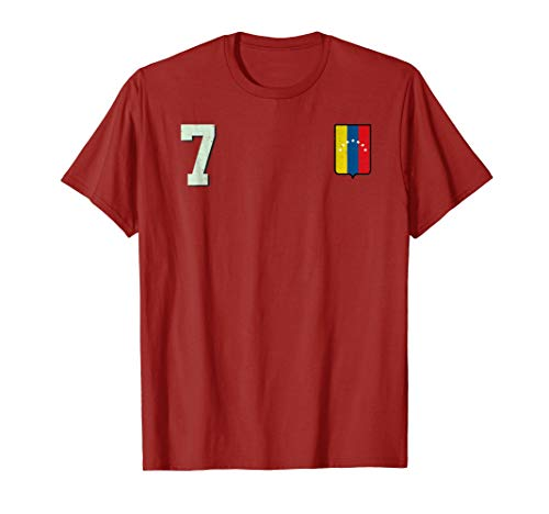(Venezuela Soccer T-Shirt Retro Camiseta Vinotinto Futbol 7)