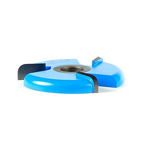 (Amana Tool 980 Carbide Tipped 3-Wing Raised Panel Back Cutter w/BB Rub Collar 1/4 R x 3-1/2 D x 1/2 CH x 1/2 & 3/4 Bore Shaper)