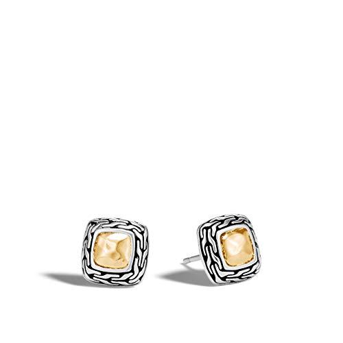 John Hardy Women's Classic Chain Hammered Gold & Silver Heritage Stud Earrings BG