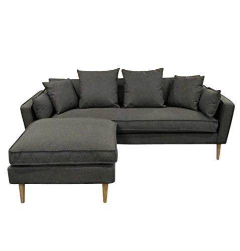 Amazon.com: Olivia Sofá de 3 plazas y otomano, color gris ...