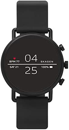 Skagen Connected Falster 2 Stainless Steel Touchscreen Smartwatch with Heart Rate GPS NFC and