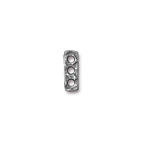 TierraCast Rock and Roll 3 Hole Bar, 5x14mm, Antique Pewter, (Pewter Rock)