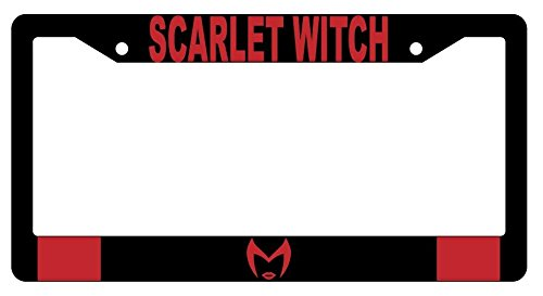 (Scarlet Witch LOGO High Quality Black Plastic License Plate Frame)