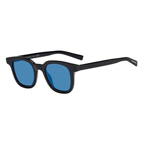 Christian Dior - BLACK TIE 219S, Wayfarer, acétate, homme, BLACK/BLUE MIRROR(KVX/2A), 49/23/150