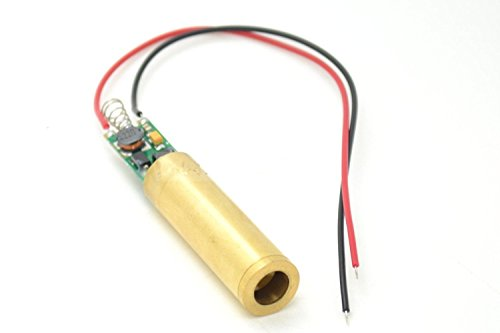 High Power 532nm 100mW Green Diode Laser Dot Module w/Cable 12x60mm