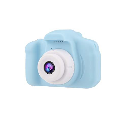 Nadition Child Camera  Children's Fun Digital Camera 2.0 LCD Mini Camera HD 1080P Children's Camera Cartoon Toy Gift Blue
