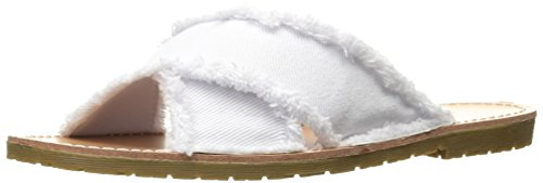 Chinese Laundry Dirty Laundry by Women's Empowered Twill Slide Sandal White SjVmYEG