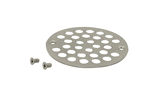 Westbrass D3192-07 4 in. O.D. Shower Strainer Cover Plastic-Oddities Style in Satin Nickel - 4 Shower Strainer