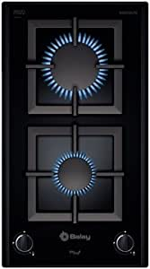Balay 3EB2030LPB Integrado Gas hob Negro hobs - Placa (Integrado, Gas hob, Negro, Giratorio, Parte superior delantera, 1 m)