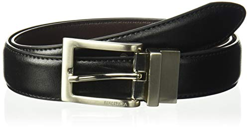 - Nautica Boys' Big Stitched Edge Belt, Black/Brown, 32