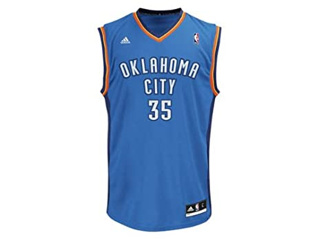 0f78f293287 ... Kevin Durant Oklahoma City Thunder 35 Revolution 30 Replica Adidas NBA  Basketball Jersey (Blue ...