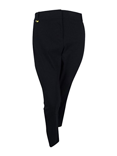 JM Collection Womens Plus Crepe Solid Slim Pant Black 18W from JM Collection