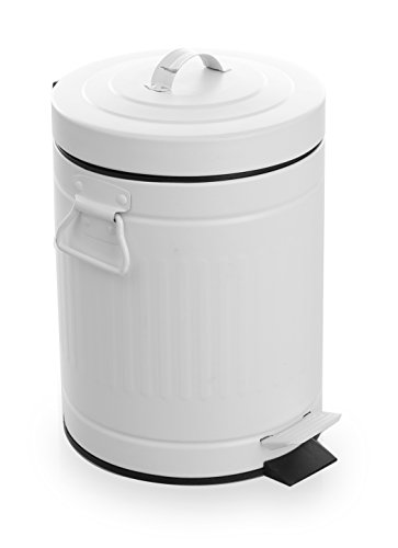 white bathroom trash can with lid - 7