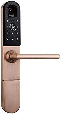 GAOPIN Cerraduras de combinación - Cerradura de Puerta de Aluminio para Puerta corredera o Columpio de Tipo Europeo con WiFi biométrico para Puerta corredera de Aluminio con 3585 Mortise: Amazon.es: Hogar
