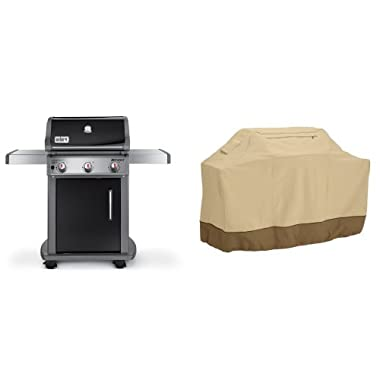 Weber 46510001 Spirit E310 Liquid Propane Gas Grill, Black with Classic Accessories Cover