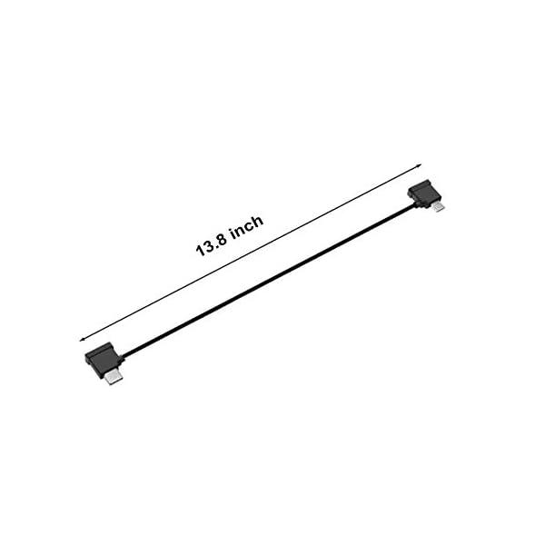 Skyreat 1.14ft / 35cm Cavo da USB C a Micro USB, angolo retto per DJI Mini 2 Mavic Air 2 telecomando e dispositivi Micro USB 2 spesavip