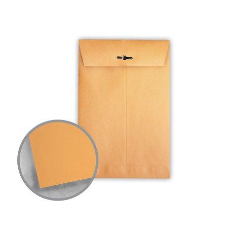 Printmaster Brown Kraft Envelopes - No. 63 Clasp (6 1/2 x 9 1/2) 28 lb Writing 500 per Carton by National Envelope Printmaster