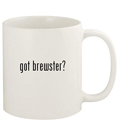 got brewster? - 11oz Ceramic White Coffee Mug Cup, White