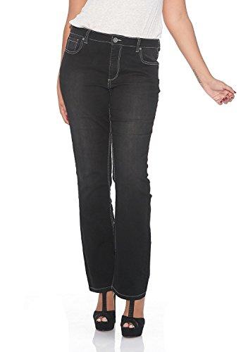 Suko Jeans Plus Size Boot Cut Jeans for Women 17378 BLACK 20