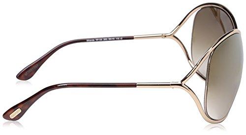 Miranda Lunettes brown FT0130 soleil de gold shiny 28G C68 mirror Tom rose Ford rPWIP4