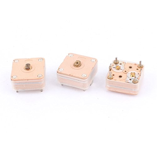 Uxcell a15102800ux0071 3 Piece 224pF 4 Linear PCB Trimmer Tuning Variable Adjustable Capacitors for Radio