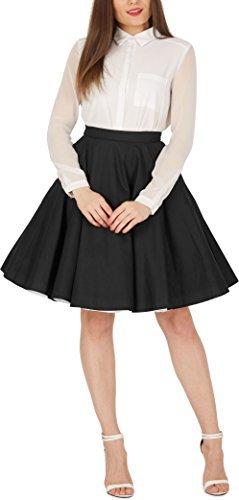 BlackButterfly Vintage Full Circle 1950's Skirt (Black, US 8)