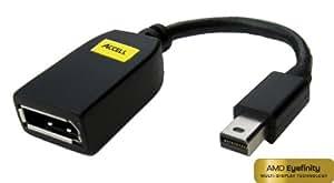 Accell B112B-001B UltraAV Mini DisplayPort (Male) to DisplayPort (Female) Adapter - 10 Inches, Black