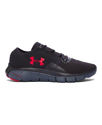 Under Armour Men's UA Speedform Fortis 2 TXTR Black/Stealth Gray/Red Sneaker 10.5 D (M)