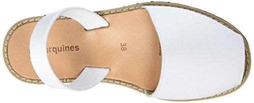 Minorquines Avarca - Sandalias de Talón Abierto Mujer Blanc (Blanco1)