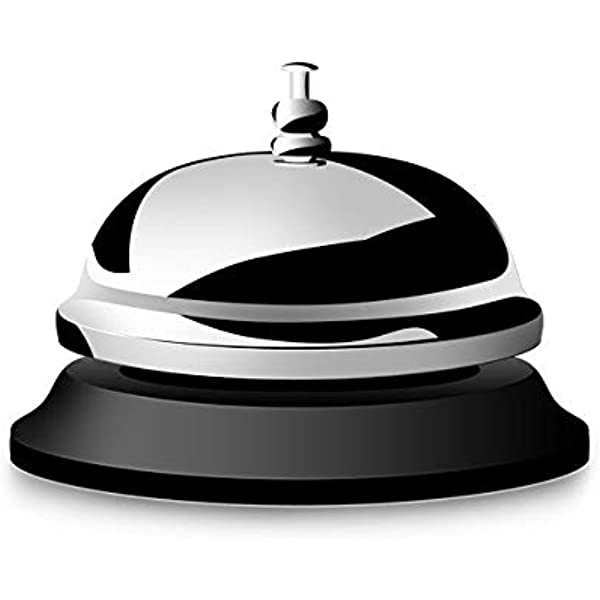 Call Bell Anti-Rust by GOCTOS Bellhop Bell 3.3 inches Diameter Durable Top Quality Desk Bell Pleasant Sound Service Bell