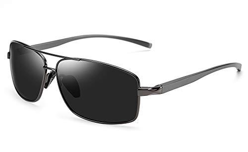 FEISEDY Ultra Lightweight Rectangular Polarized Sunglasses Mens Driving Golf Fishing Sunglasses ()