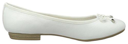 Marco Tozzi22137 - Bailarinas Mujer Blanco (White 100)
