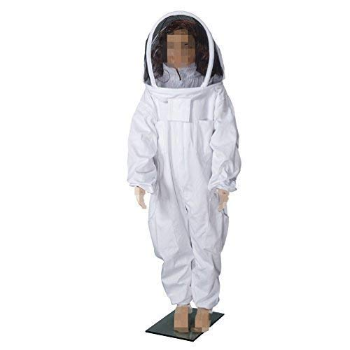 BeeCastle Childrens/Kids Beekeeping Cotton Protective Suit with Fencing Veil for Kids (4.26FT/51 INCH)
