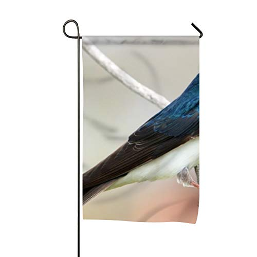 Delia Bartholomew Flag, Tree Swallow Design, Campsite Flag, Motorhome Decor, Trailer Camping Flag, Garden Yard Decorations, Camp Host Flag, Outdoor Flag 12 x 18 ()