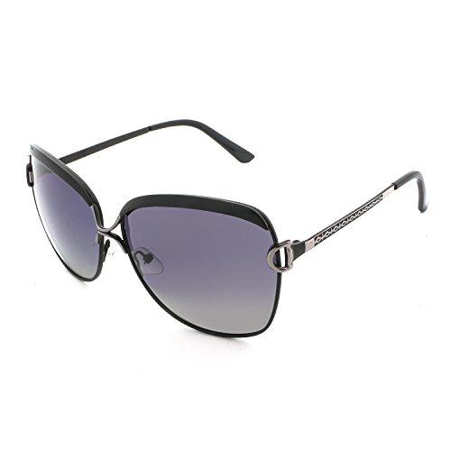 MOUMOTO Polarized Sunglasses for Women Oversized Oval UV400 Protection Eyewear with Case -