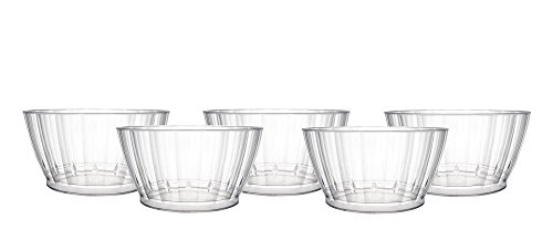 Party Essentials N505925 60Count Deluxe/Elegance Quality Plastic 6 oz Fruit/Nut/Dessert Bowls, Clear