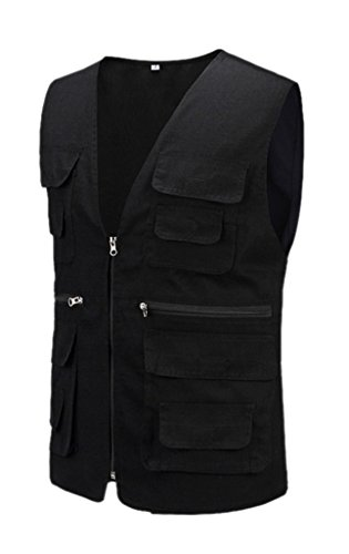 Geval Cotton Men's Multiple Pockets Photography Director Work Vest