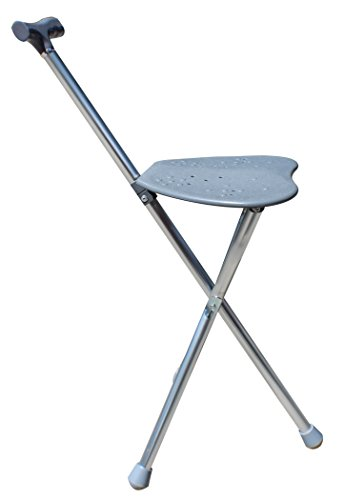 Royal Brands Folding Travel Cane With Seat Tripod Stool