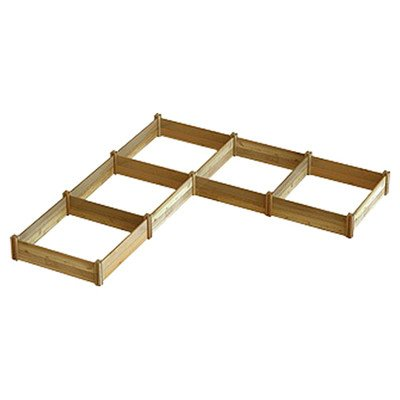 Gronomics MRGB L12-12 L-Shaped Modular Raised Garden Bed, 142 by 142 by 13-Inch by Gronomics