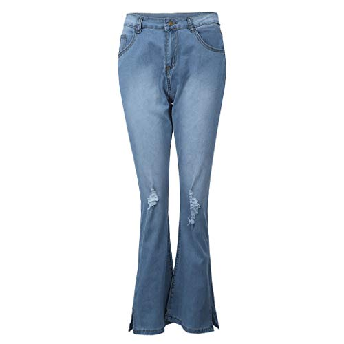 VEZAD Women Jeans High Waisted Skinny Denim Pocket Stretch Slim Button Pants ()