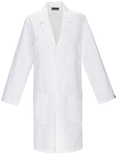 Cherokee 40 Inch Unisex Lab Coat, White, X-Large (Long Sleeve Lab Coat)