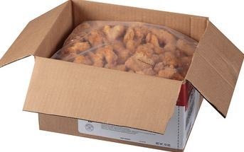 Tyson Fully Cooked Boneless, Skinless, Breaded Chicken Breast Chunks, 10 lbs