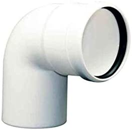 courbe fum/ée PLASTIC PPS DN 125 87 /°