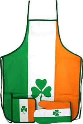 - Ireland Irish Shamrock Clover St Pattys Day BBQ Barbeque Apron Cook Set