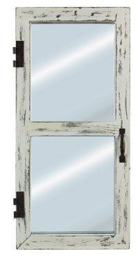 Wood Antique Wall Mirror by Heart of America (Image #1)