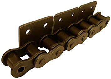 One Side WSA-2 Attachment 40//1//2 in Pitch Riveted Attachment Chain Bent Carbon Steel Material